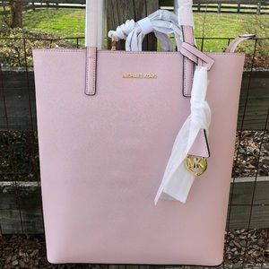 Michael Kors MK Blossom Pink Hayley Large Tote NWT